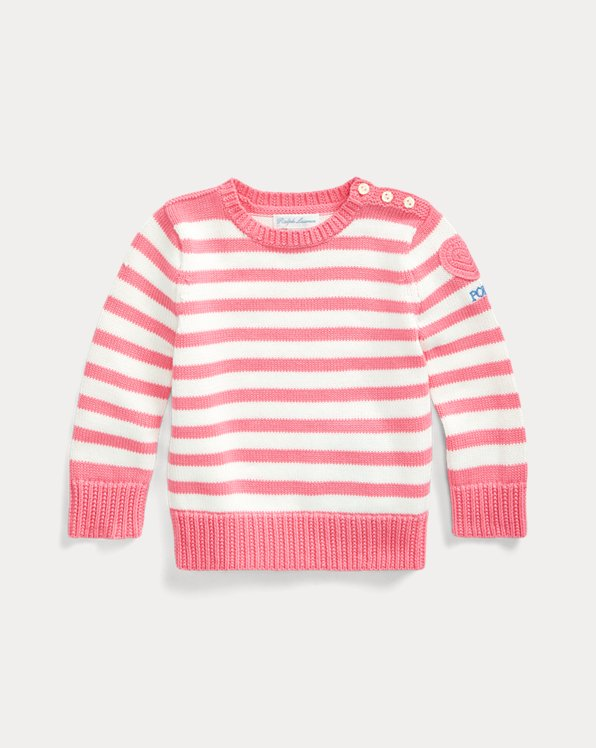 Heart-Patch Cotton Jumper