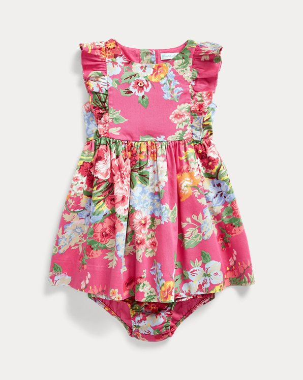 Ruffled Floral Dress & Bloomer