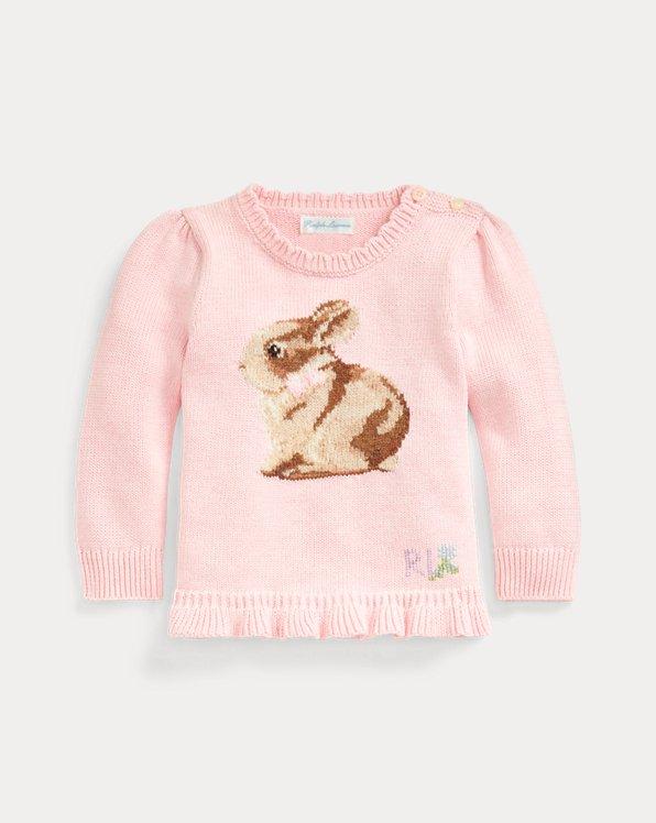 Ruffle-Hem Bunny Jumper