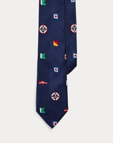 Nautical Flag Silk Tie