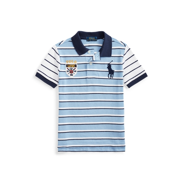 폴로 랄프로렌 남아용 폴로 셔츠 Polo Ralph Lauren Big Pony Crest Cotton Polo,Blue Lagoon Multi