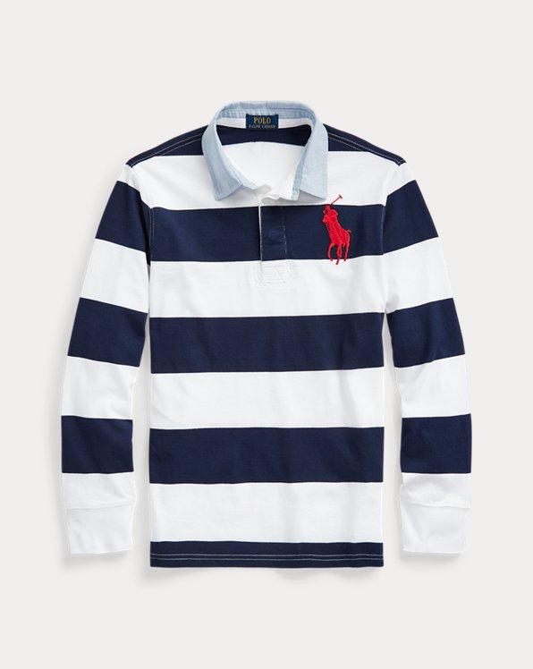 Big Pony Striped Cotton Rugby