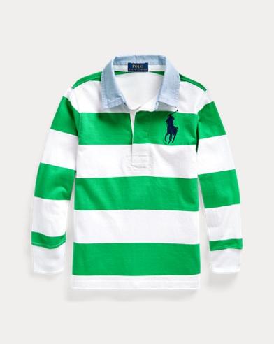 Camiseta de rugby de algodón a rayas