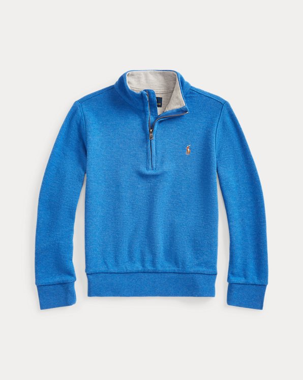 Cotton Quarter-Zip Pullover