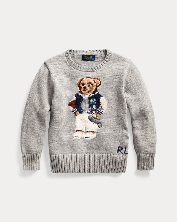 Football Bear Cotton Jumper