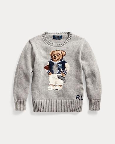 Football Bear Cotton Sweater