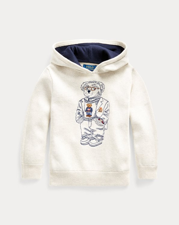Bear Cotton Hooded Jumper
