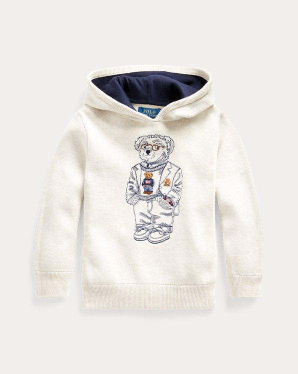 Pull à capuche ourson en coton