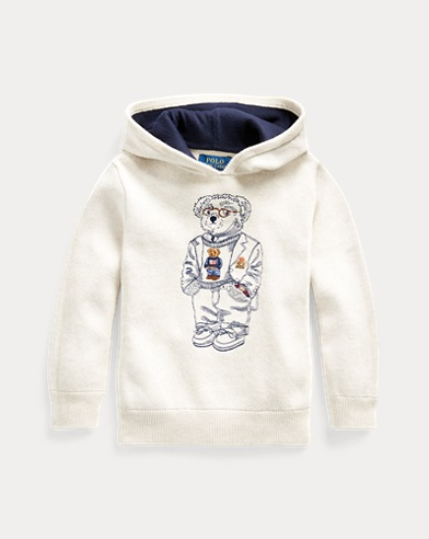 Bear Cotton Hooded Sweater