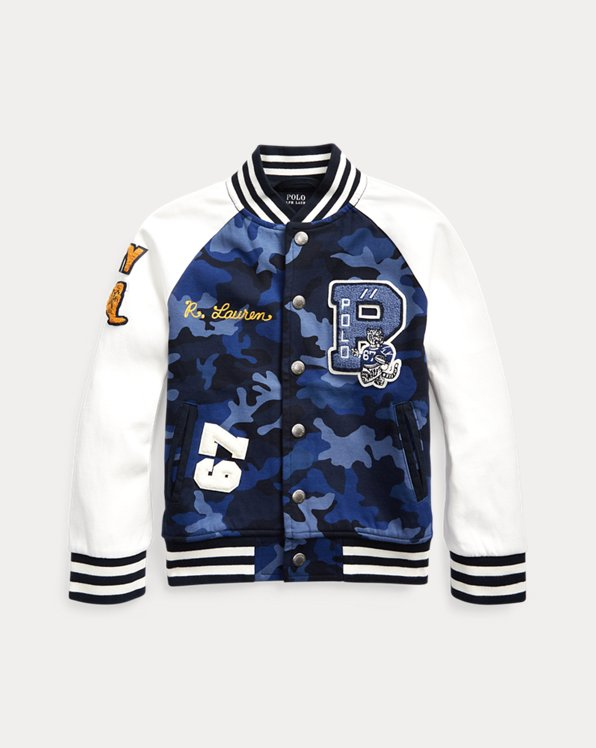 Camo Letterman Jacket