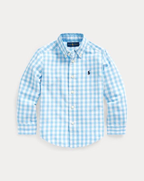 Gingham Cotton-Blend Shirt