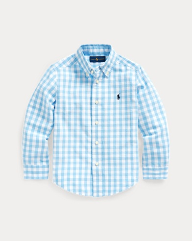 Gingham Cotton-Blend Shirt