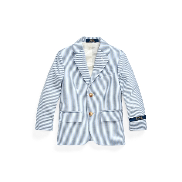 폴로 랄프로렌 남아용 자켓 Polo Ralph Lauren Polo Seersucker Suit Jacket,Blue/White