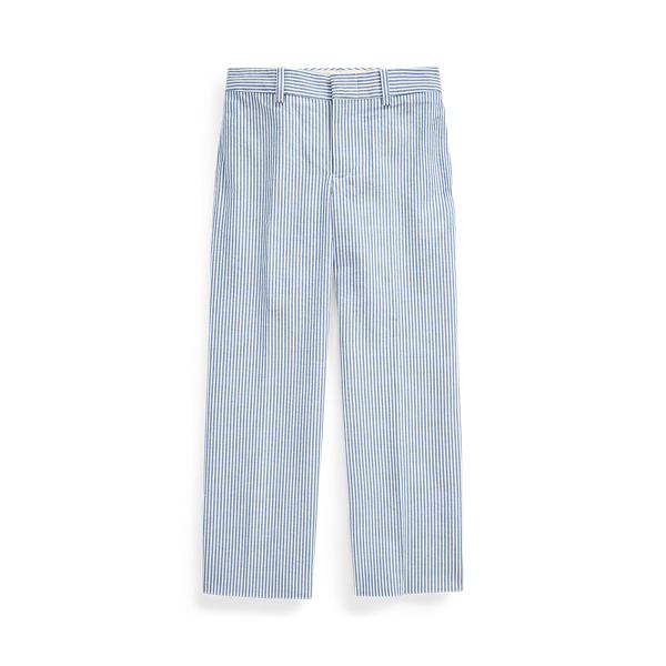 폴로 랄프로렌 남아용 팬츠 Polo Ralph Lauren Cotton Seersucker Suit Trouser,Blue/White