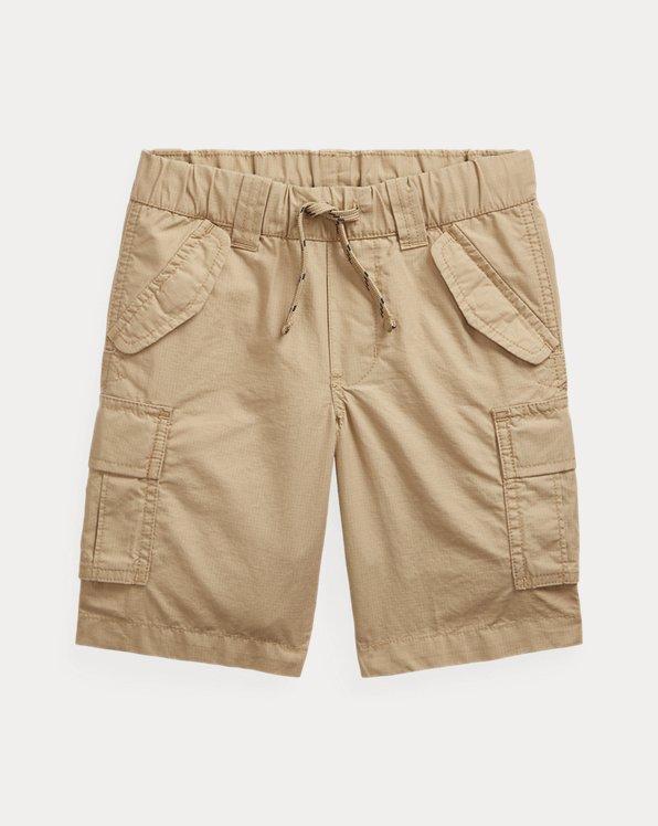 Pantalón corto cargo en tejido ripstop de algodón