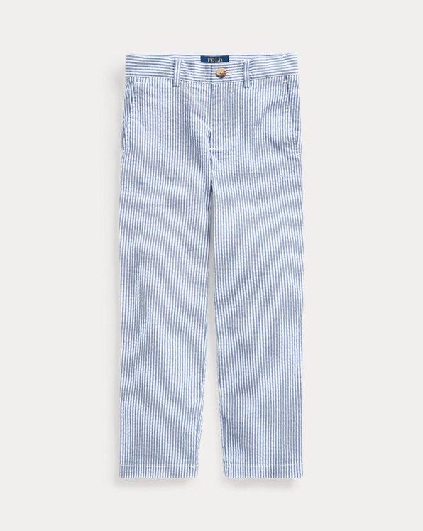 Stretch Seersucker Skinny Trouser