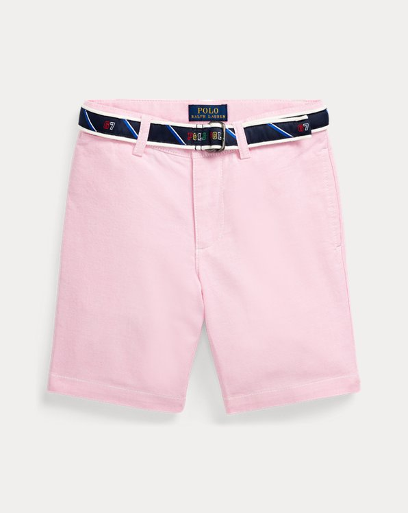 Slim Fit Belted Oxford Short