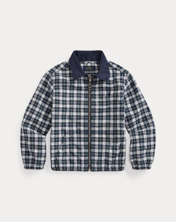 Plaid Cotton Oxford Jacket