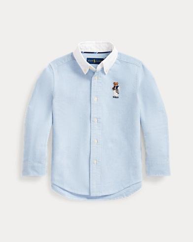 Camisa de algodón con Polo Bear de fútbol