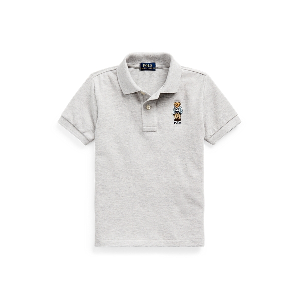 폴로 랄프로렌 남아용 폴로 셔츠  Polo Ralph Lauren Polo Bear Cotton Mesh Polo Shirt,Andover Heather