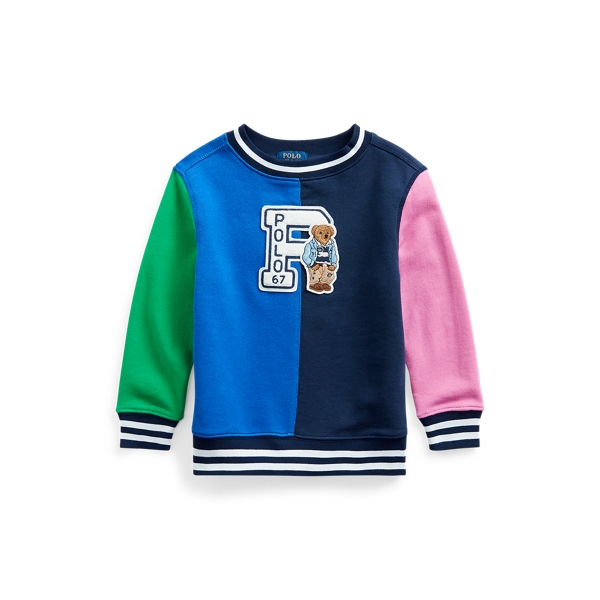 폴로 랄프로렌 Polo Ralph Lauren Preppy Bear Cotton Sweatshirt,Travel Blue