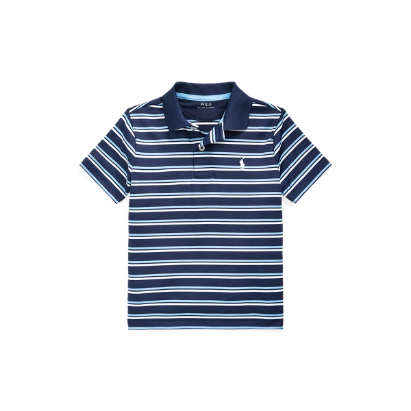 폴로 랄프로렌 남아용 폴로 셔츠 Polo Ralph Lauren Striped Performance Polo Shirt,Newport Navy Multi