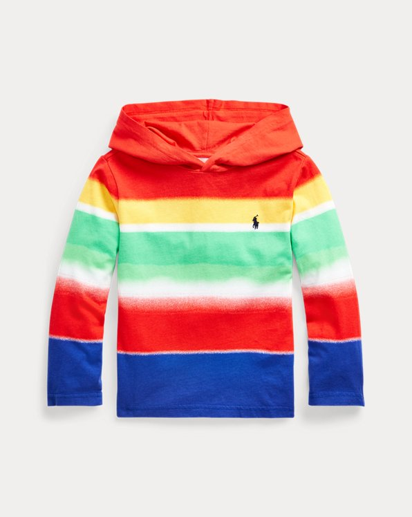 Striped Cotton Hooded Tee