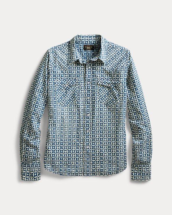 Indigo Print Western Shirt