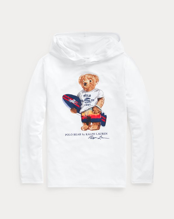 Surfer Bear Hooded Rash Guard