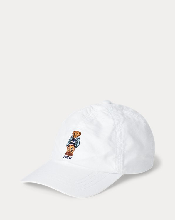 Casquette ourson en coton Oxford