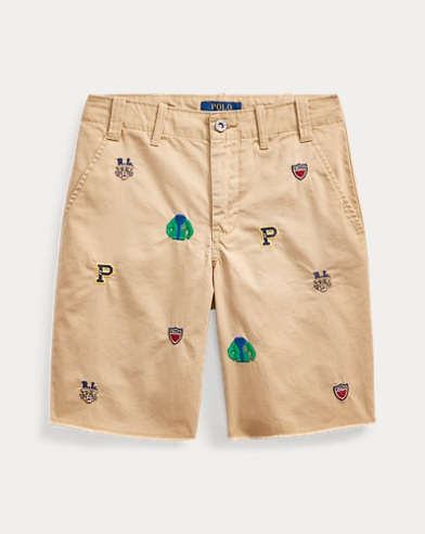 Straight Fit Embroidered Short