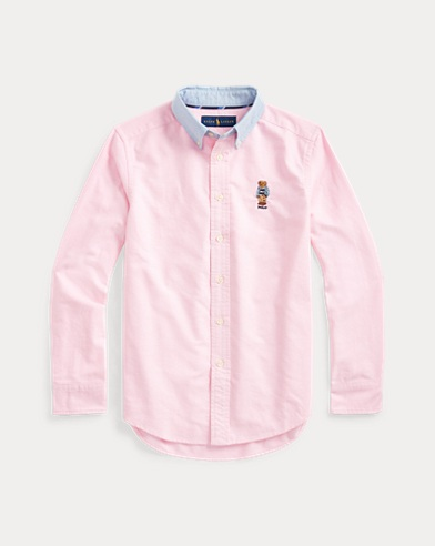 Preppy Bear Cotton Shirt