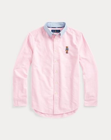 Camicia in cotone con Preppy Bear