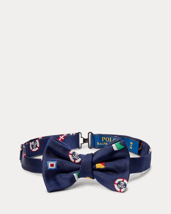 Nautical Flag Silk Bow Tie