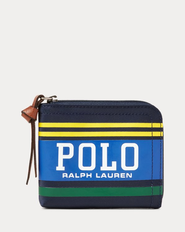 Polo Striped Zip Wallet