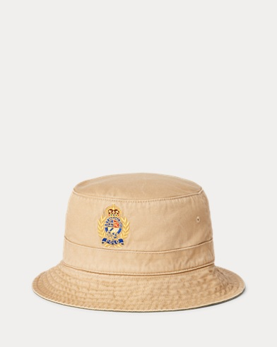Crest Cotton Chino Bucket Hat