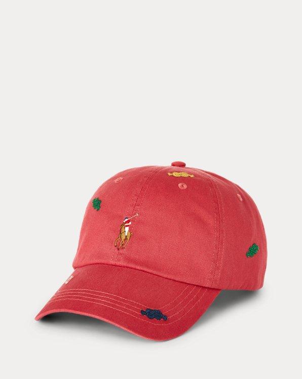 Knot-Motif Twill Ball Cap