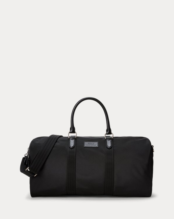 Leather-Trimmed Duffel Bag