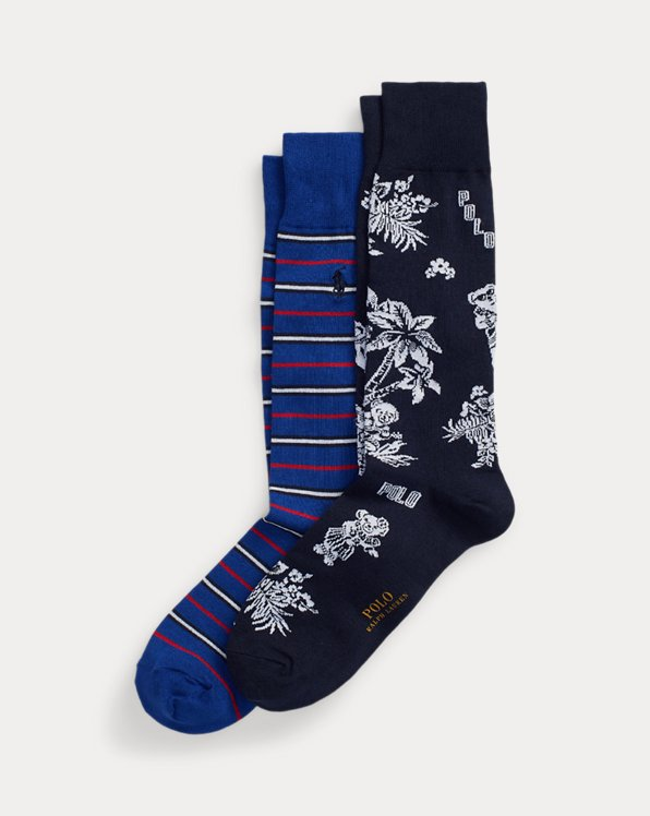 Tropical Bear Sock 2-Pack