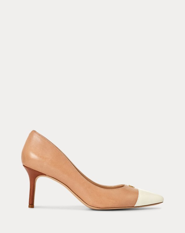 Lanette Leather Toe-Cap Pump