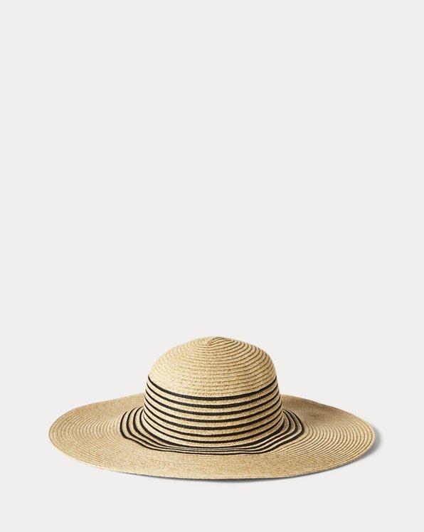 Chapeau de soleil en papier rayé