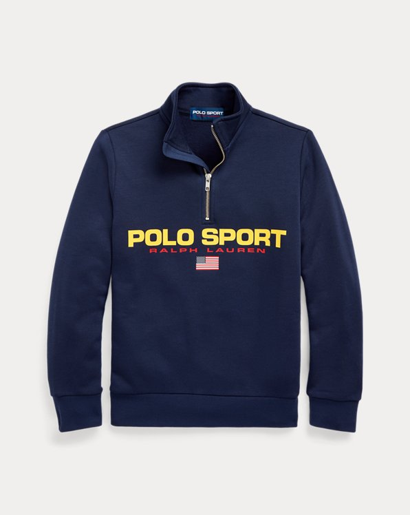 Sweat Polo Sport demi-zippé