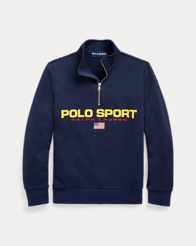 Felpa Polo Sport con mezza cerniera