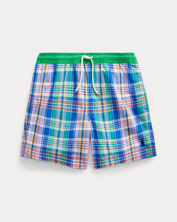 Traveller Plaid Swim Trunk