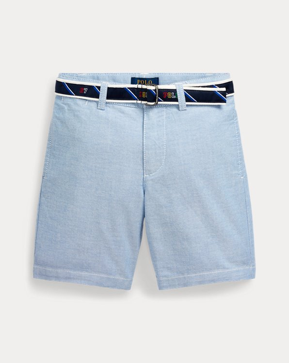 Short Oxford con cintura Slim-Fit