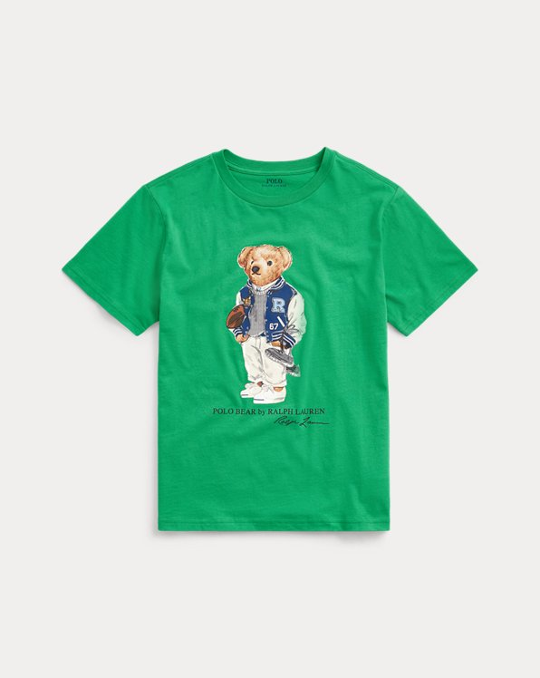 Baumwoll-T-Shirt mit Football Bear