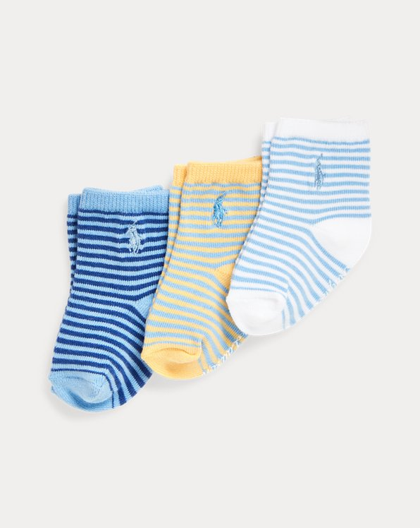Striped Crew Sock 3-Pack