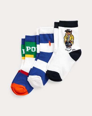 Slicker Bear Crew Sock 3-Pack