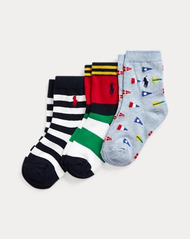 Graphic Crew Sock 3-Pack