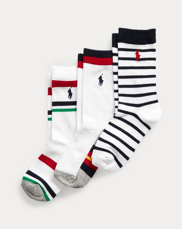 Striped Crew Sock 3-Pack